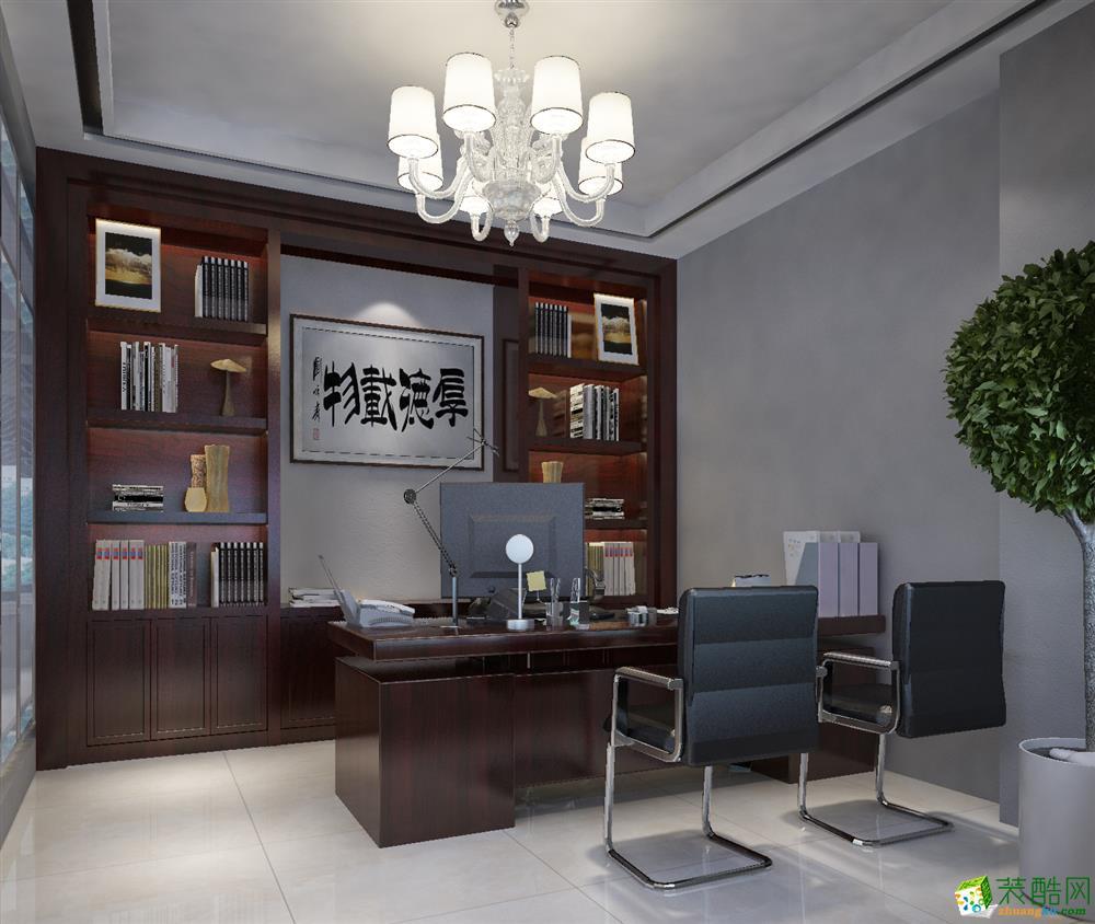 【艺彩空间】绿地鸿海180办公室简约效果图