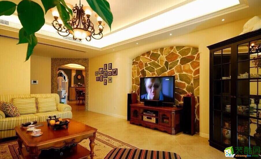 家祥装饰-104平米两居室居室装修案例图