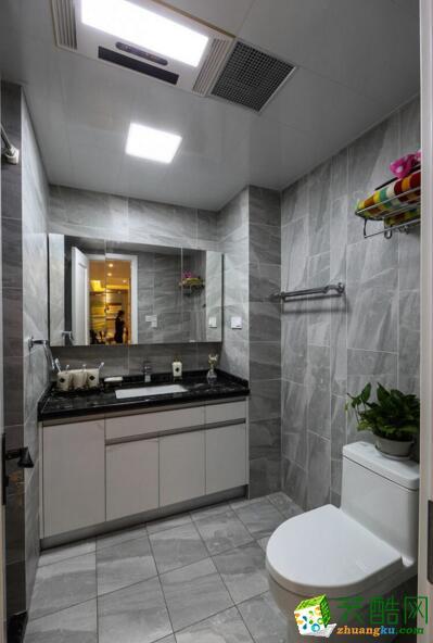 品界装饰-现代风格96平米两居室装修案例图