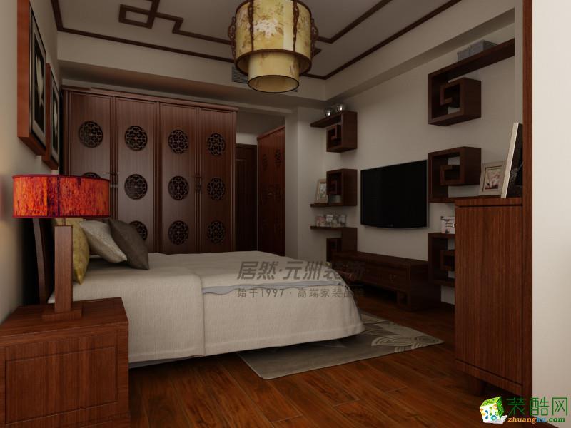 元洲装饰―东丽湖凭兰苑134平米中式风格装修效果图