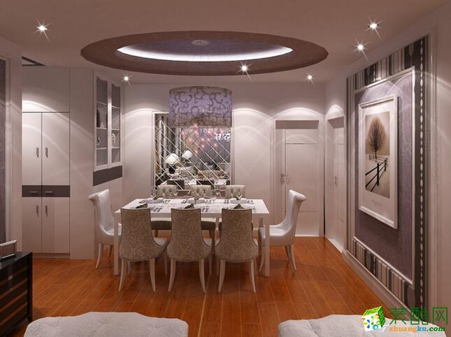 塞纳春天-179平米欧式风格三居室装修案例图