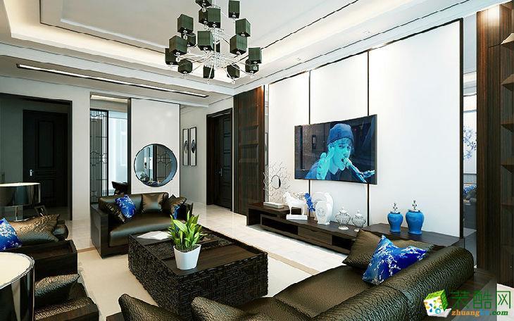 喜支支装饰―瑞虹新城120平米中式风格装修效果图