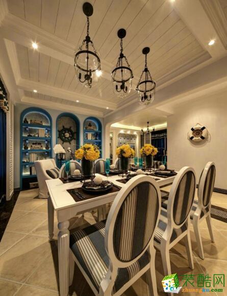 天怡美装饰-地中海风格120平米三居室装修案例图