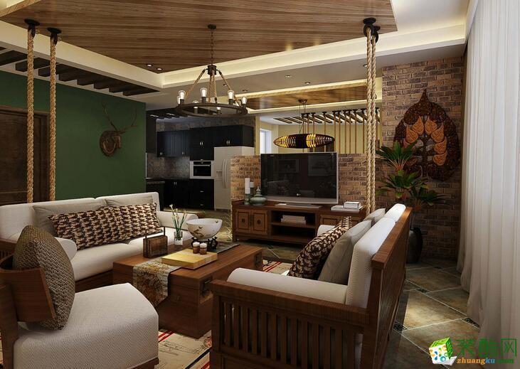 交换空间装饰-180平米跃层住宅混搭风格装修案例图