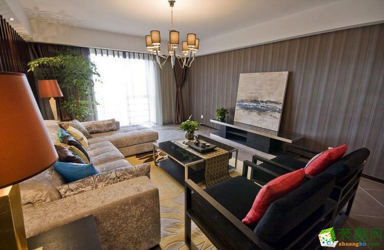 万家和装饰-130平米四居室中式风格装修案例图