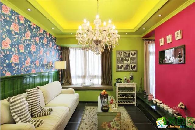 美信装饰-混搭风格72平米两室两厅一卫装修案例图