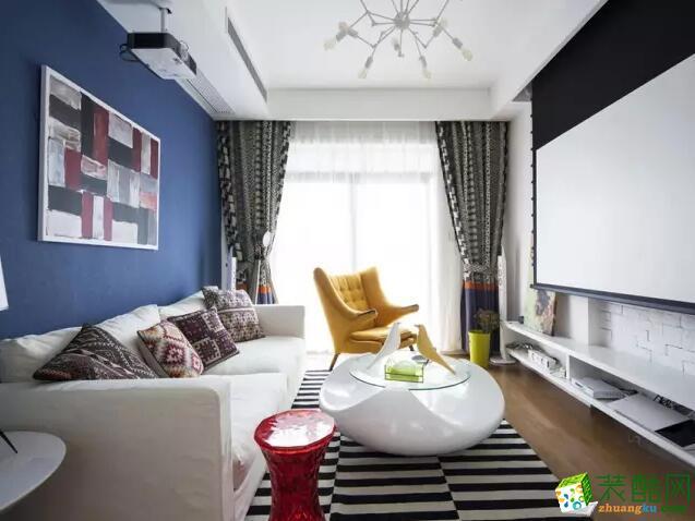 美信装饰-80平米两居室混搭风格装修案例图