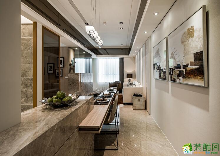 天地和装饰-现代简约风格三居室120平米装修案例
