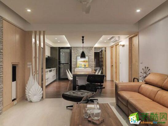 火龙果装饰-99平米简约风格三居室装修案例图