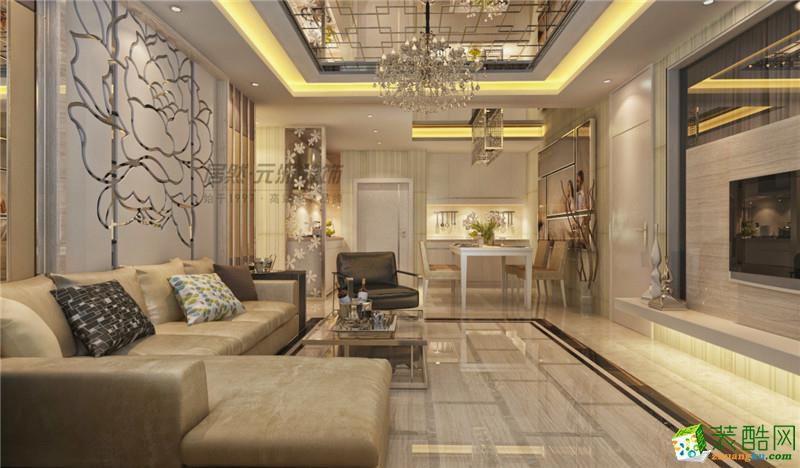 天津元洲装饰】都会轩118平新中式风格案例