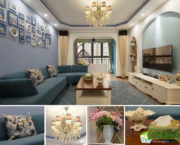 港宏装饰-114平米地中海风格三居室装修案例图