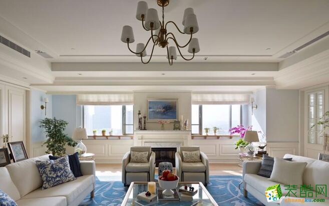 优乐装饰-108平米三居室简约风格装修案例图