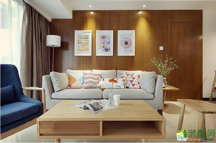 【唐卡装饰】98平米北欧风格三居室装修案例图