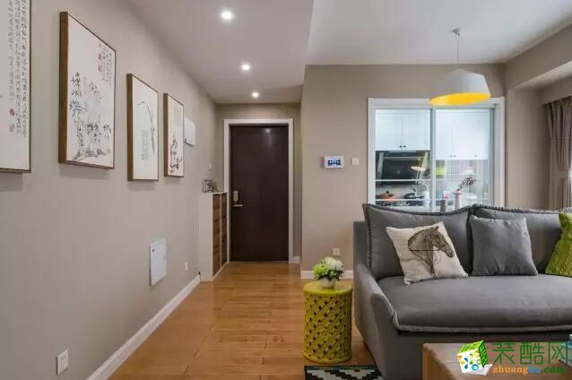 火龙果装饰-115平米北欧风格三居室装修案例图
