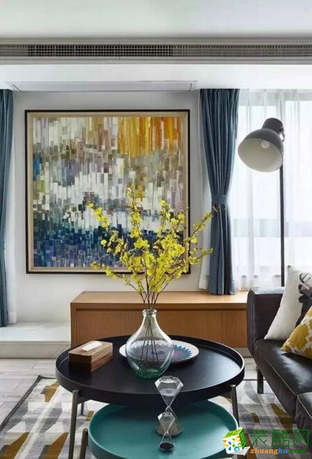交换空间装饰-147平米三居室北欧风格装修案例图