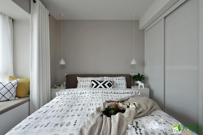 北欧风格素色两居室_北欧风格-三室两厅一卫