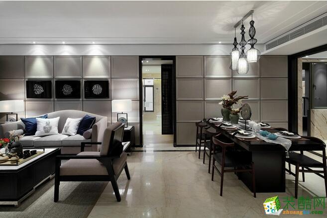 万家和装饰-新古典风格102平米三居室装修案例