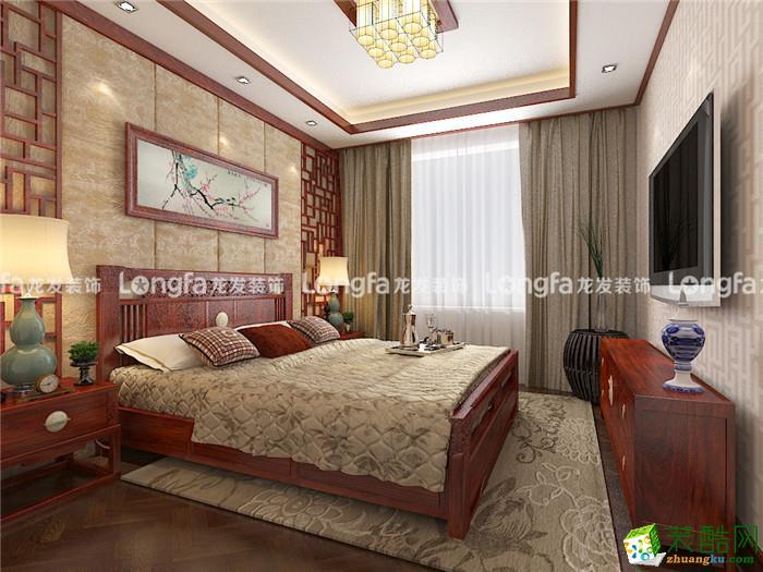 龙发装饰―旺海公府135平米中式风格装修案例
