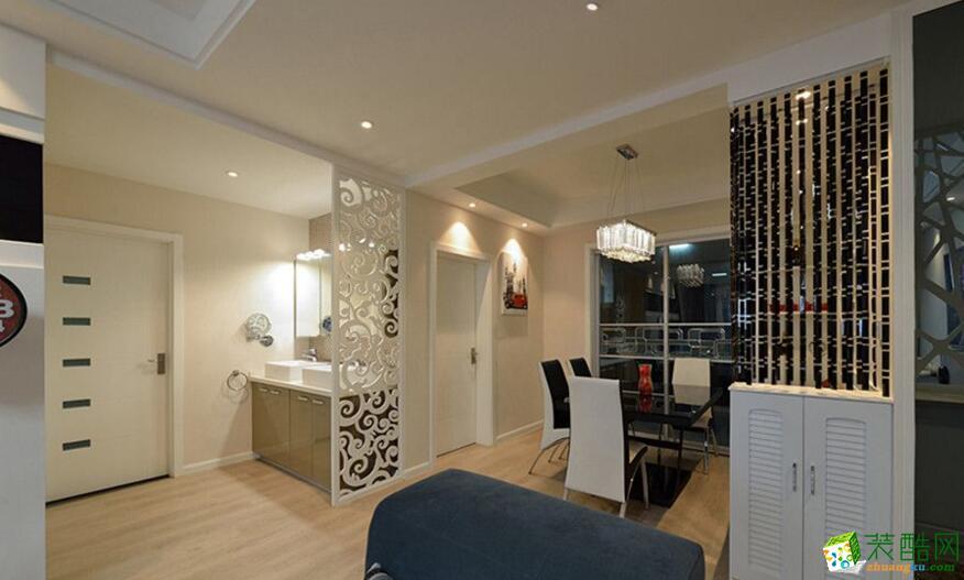 唐卡装饰-80平米两居室现代简约风格装修案例图