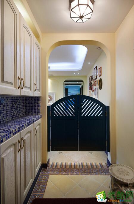 优乐装饰-地中海风格三居室89平米装修案例