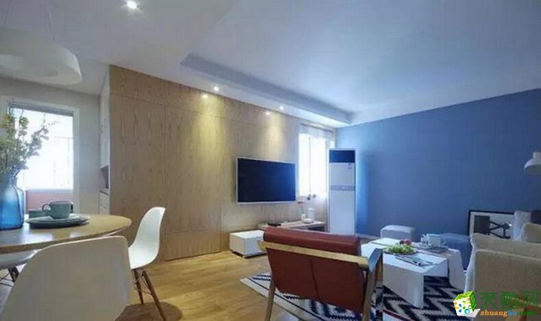 火龙果装饰-两居室88平米现代简约风格装修案例图