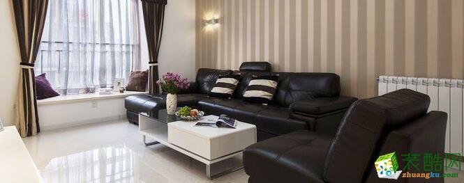 天地和装饰-现代简约风格三居室84平米装修案例图
