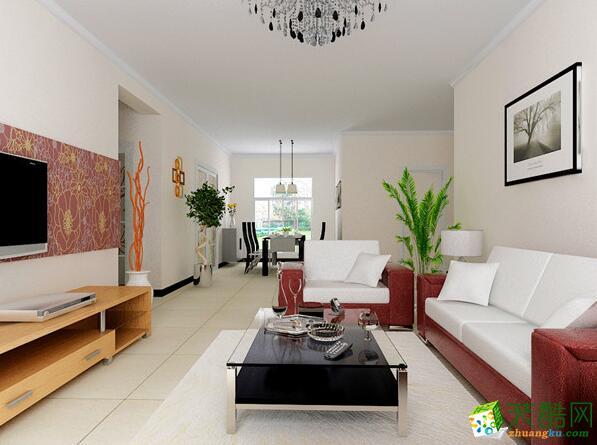 天地和装饰-100平米三居室新古典风格装修案例图