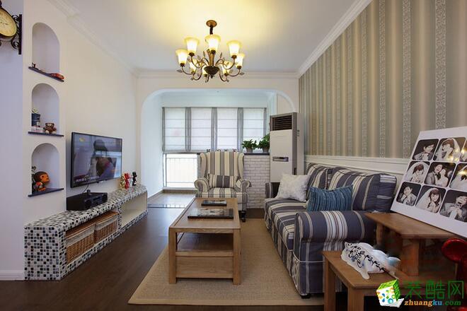 好百年装饰-三居室84平米美式乡村风格装修案例