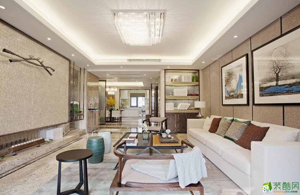 【吉筑装饰】180平新中式风格三居室案例