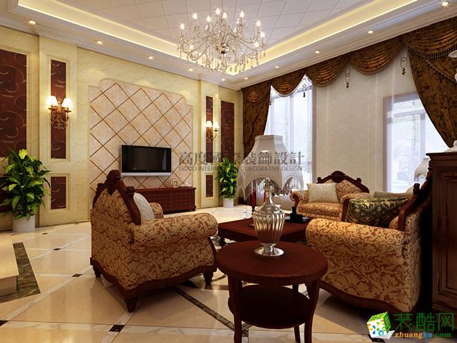 高度国际―国耀紫溪270平米欧式风格别墅装修案例