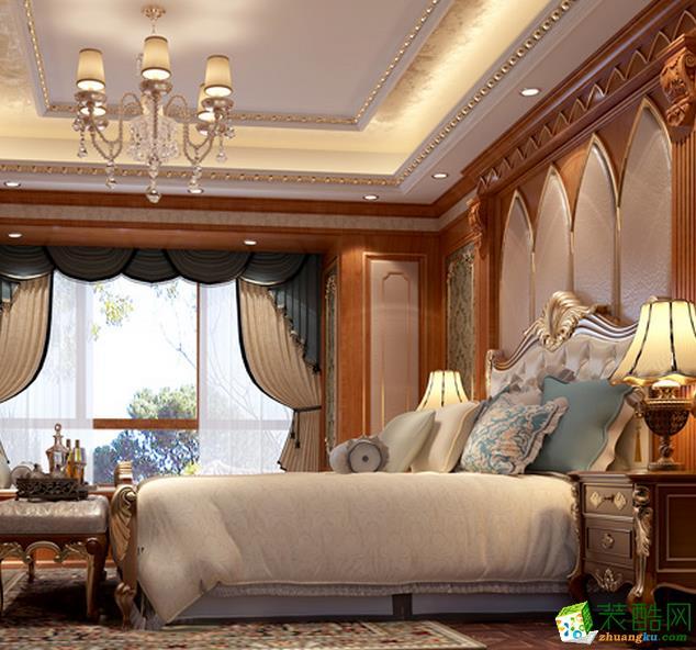 湖南省名仕大宅装饰-古典欧式三居室装修效果图