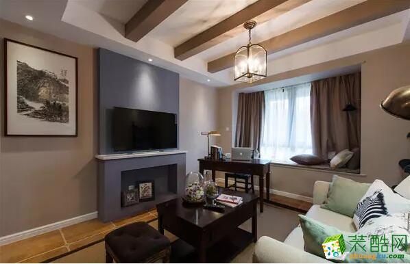 重庆速美家-简美风格106平米三居室装修案例