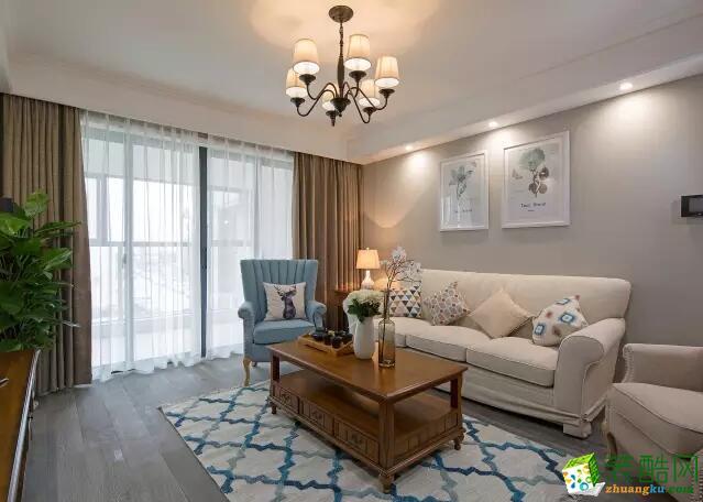 重庆速美家装饰-三居室100平米简美风格装修案例