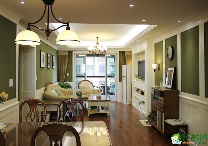重庆速美家装饰-三居室118平米简美风格装修案例图