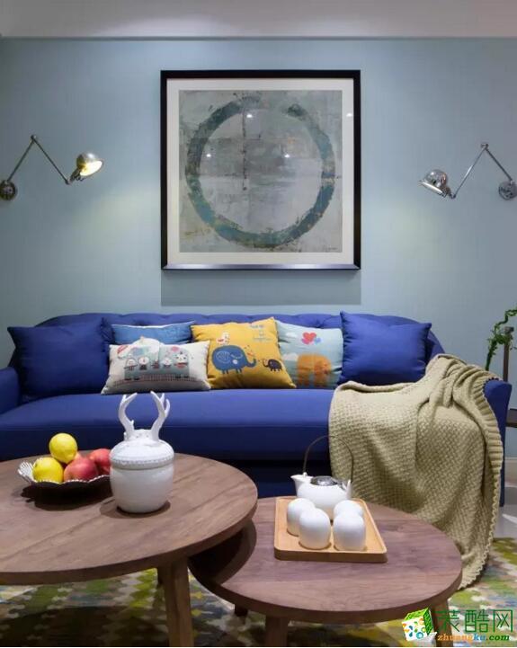 【天地和装饰】86平米混搭风格两居室装修案例图