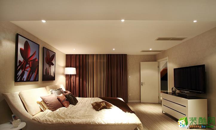 长沙名爵装饰-现代风三居室装修效果图