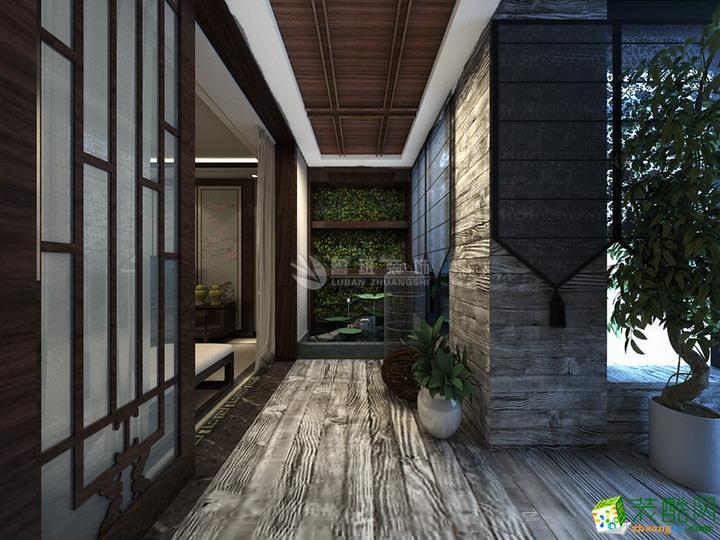 入户花园 【鲁班装饰】绿地香树花城四居室新中式