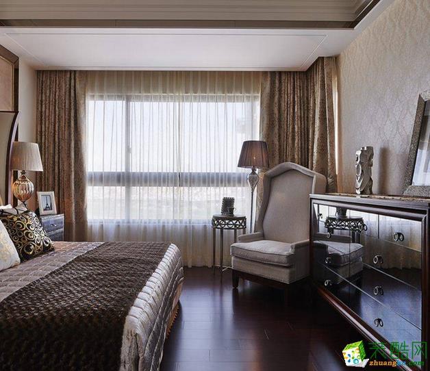 长沙名爵装饰-欧式风格三居室装修效果图