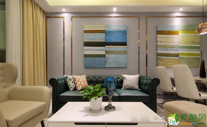 【大筑装饰】89平米现代简约风格两居室装修案例