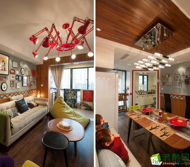 点石家装-混搭风格三居室装修效果图