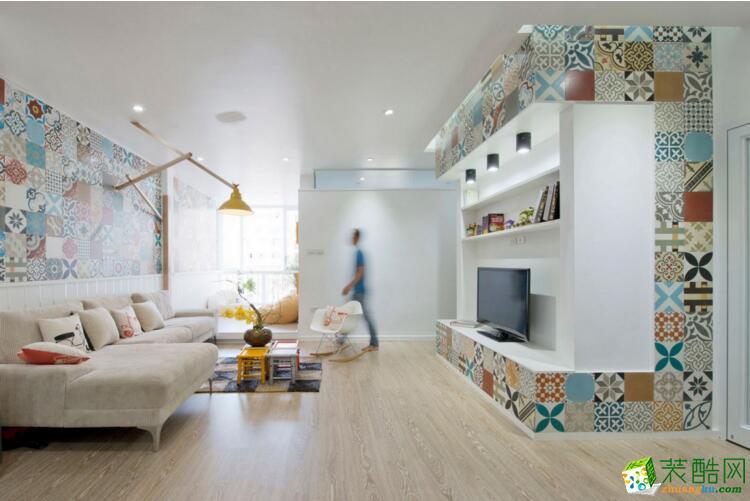 【大晶装饰】93平米两居室东南亚风格装修案例