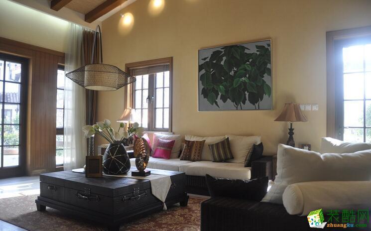 【天地和装饰】179平米东南亚风格别墅住宅装修案例