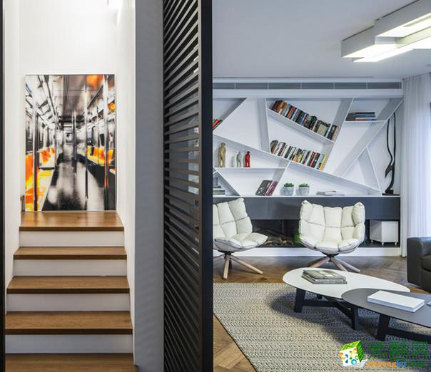 长沙极筑装饰-现代简约三居室装修效果图