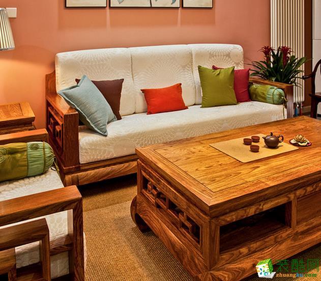 长沙极筑装饰-中式两居室装修效果图