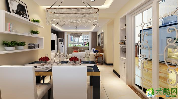 济南九创装饰-现代简约两居室装修效果图
