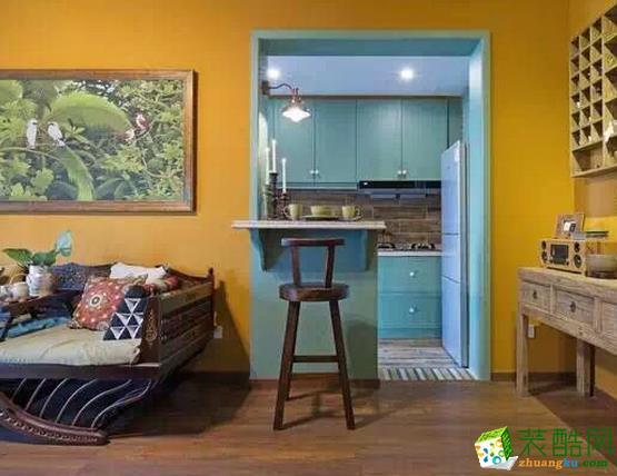 长沙洁宁装饰-东南亚风格两居室装修效果图