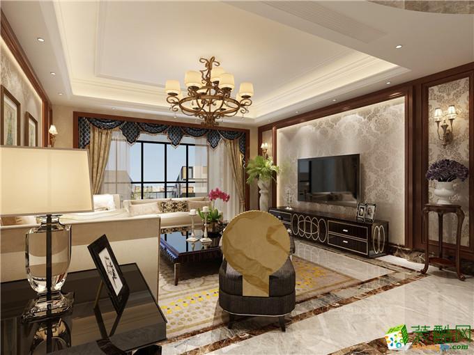 客厅电视背景墙 【西安业之峰装饰】66万打造【海珀紫庭】港式4居室图片