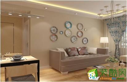 山东龙澍装饰-现代两居室装修效果图