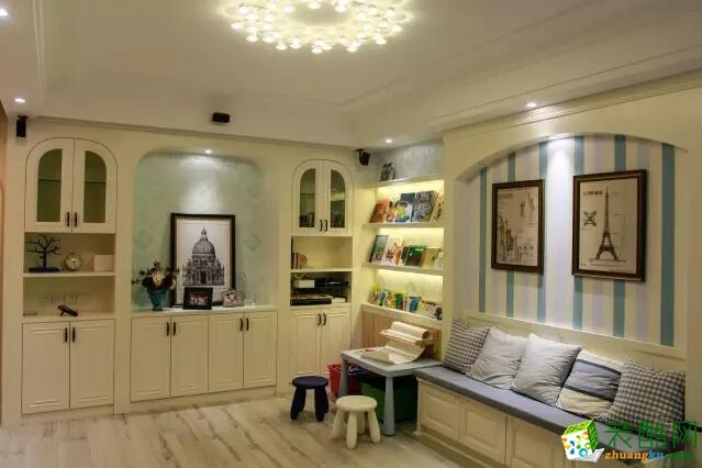 【成都万家和装饰】89平米三居室混搭风格装修案例