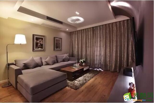 【成都楷模装饰】94平米三居室现代简约风格装修案例